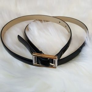 Ann Taylor Black Patent Belt size Medium
